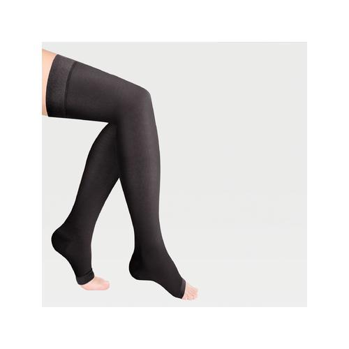 Компрессионные чулки с открытым носком на широкое бедро ID-310W